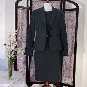 Antonio Melani black with suit jacket and dress.